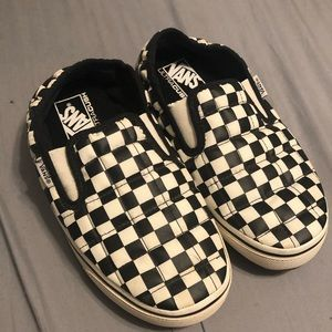 Vans checkered slippers